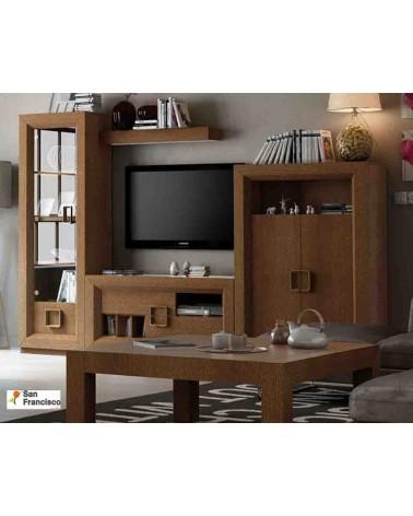 Mueble de Salón de 297 cm  Chapado en madera de Roble