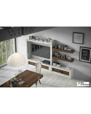 Mueble de Salón de 288 cm Lacado Blanco Alto brillo