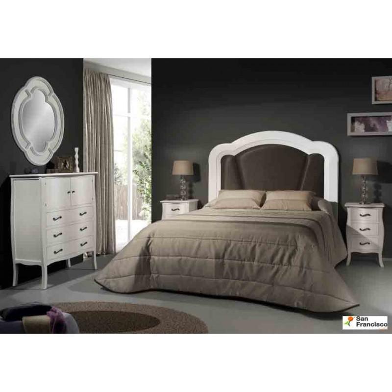 Dormitorio de Matrimonio Clásico con cabecero tapizado