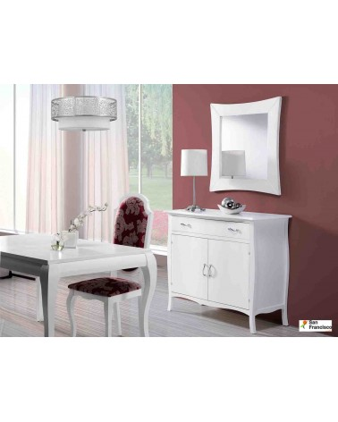 Mueble recibor clásico de 120cm lacado Blanco