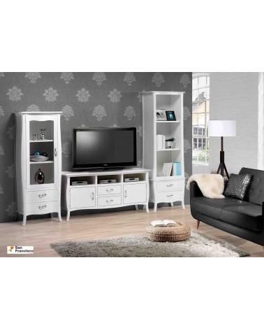 Mueble de Salón Clásico de 307 cm Lacado en Blaco