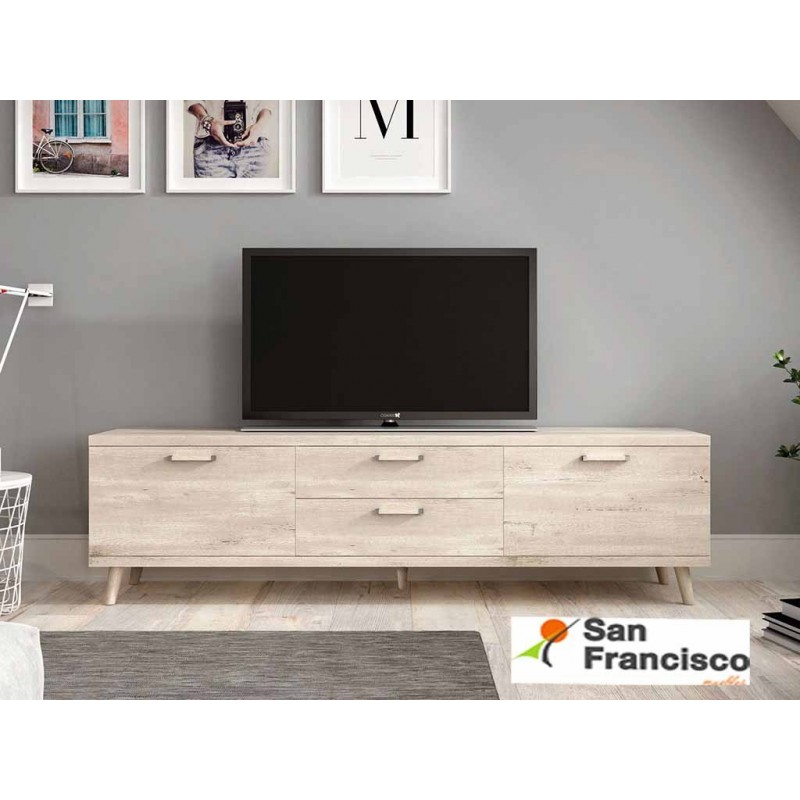 Mueble TV 2 PUERTAS 2 CAJONES DE 180 cm