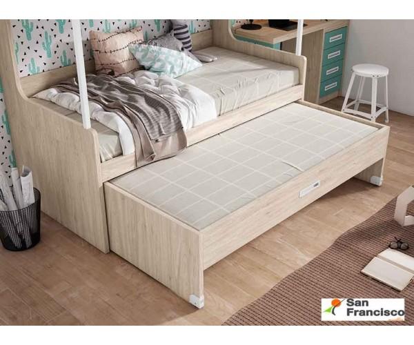 Litera compacta con 3 camas