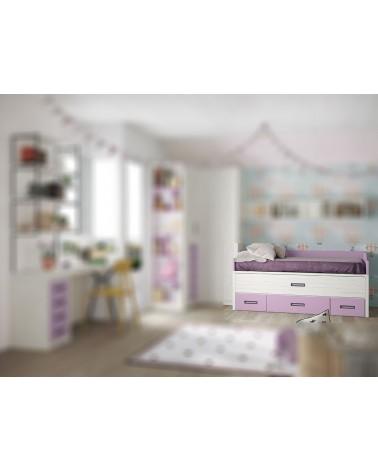Cama compacta 2 camas 2 contenedores 1 cajón Polar