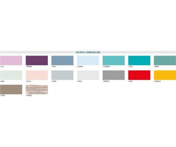 Catálogo de colores de combinación.