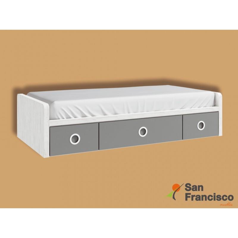 Comprar camas compactas juveniles econ micas muebles san for Cama nido precios baratos