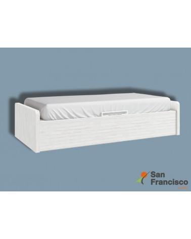 Cama nido compacta juvenil 90X190cm con  2 contenedores y 1 cajón económica.