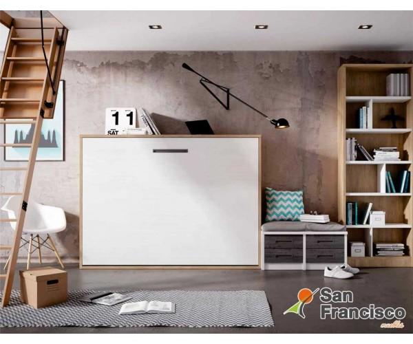 Cama abatible horizontal 135X190cm gama alta Nórdico