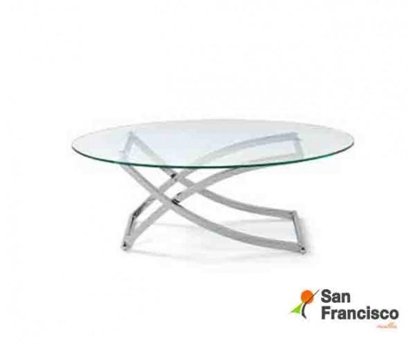Mesa de centro de cristal alto diseño