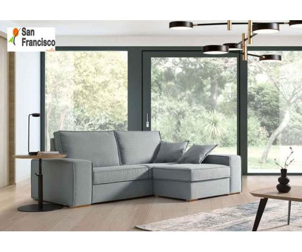 sofa de diseño 230cm con pouff