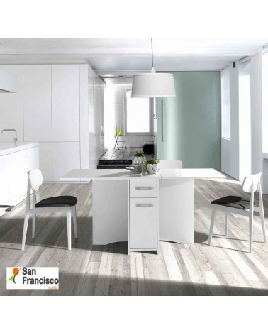 Mesa de cocina plegable de alas