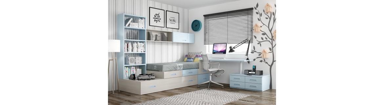 Dormitorio juvenil completo premium