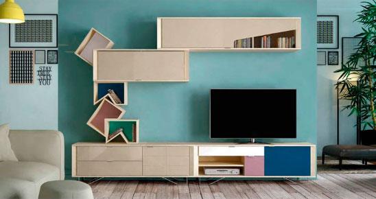 Mueble apilable moderno para salón de 300cm de diseño actual