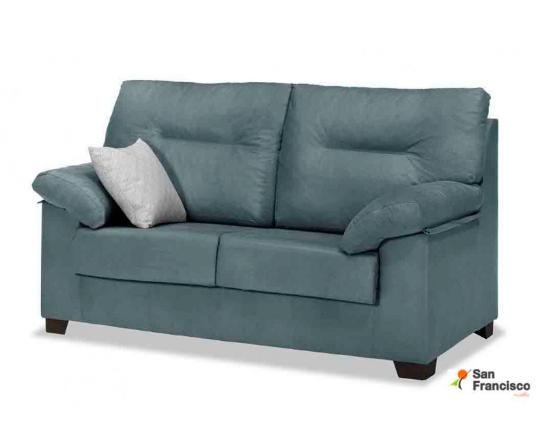 Sofá 2 plazas 140cm super oferta tapizado microfibra Azul